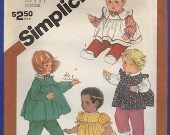 1983 Toddlers' Pull-on Pants and Top - Vintage Simplicity Sewing Pattern 6137
