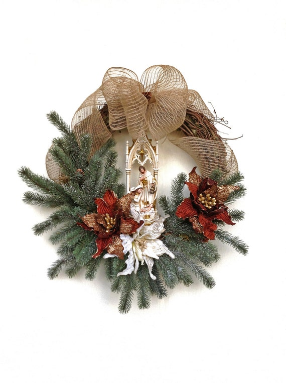 Nativity Wreath Christmas Wreath Jesus Wreath By