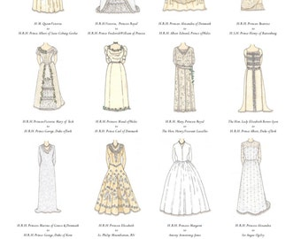 British Royal Wedding Gowns Poster