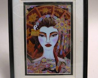 Geisha Framed and Mounted Print