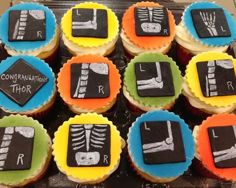 X-Ray Cupcake Toppers/Party Favors - 1 Dozen