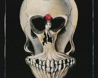 Ballerine Et Tete De Mort c 1939 Salvador Dali Surreal Art Vintageer  Rare Poster