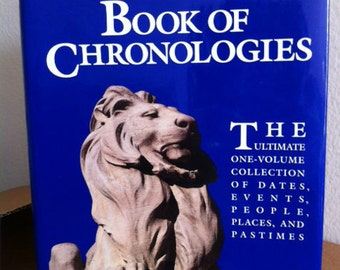 FIRST EDITION New York Public Library Book of Chronologies-Reference