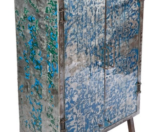 Flattened Recycled Oil Drum Armoire