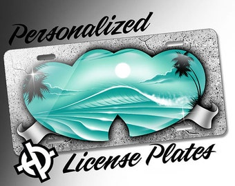 Xxx air brush license plates