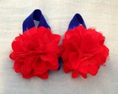 Adorable 4th of July Barefoot Baby Sandals - Photo Prop Baby Gift