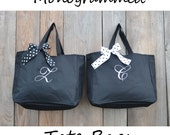6 Personalized Bridesmaid Gift Tote Bags Personalized Tote, Bridesmaids Gift, Monogrammed Tote
