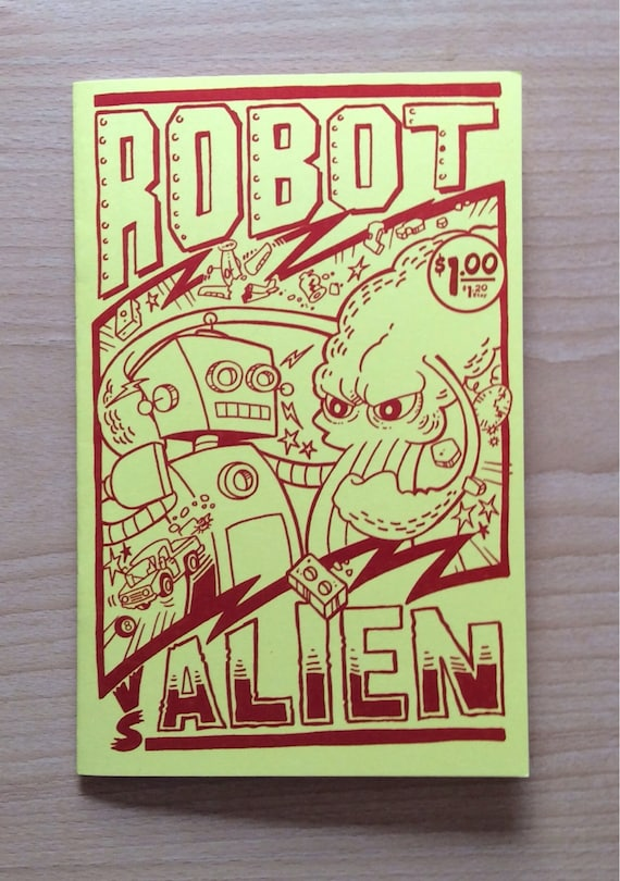 Robot vs Alien Mini Comic