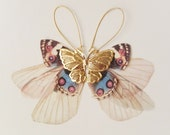 Golden Wings Fluttery Cluster Long Butterflies Earring - LAST PAIR