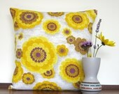 Retro Pillow Cover Cushion - 70s Vintage Orange MOD Panton