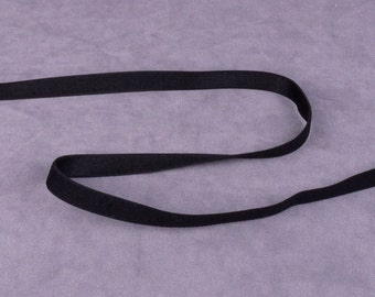 Black Waistband or Strap Elastic - 3/8 inch - 5 yards (E32B2-5)