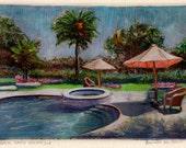 Swimming Pool Palm Trees ...