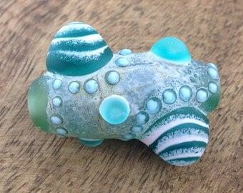 Barnacle Series Focal bead- Ocean Blues