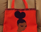 Red Machine Embroidered Tote