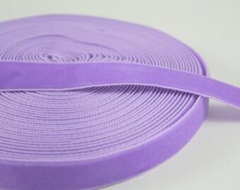 Medium Purple Grape 16mm Polyester Velvet Ribbon- 1 Yard