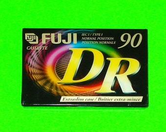 Fuji DR 90 Minute NEW Blank Cassette Mix Tape - Sealed!