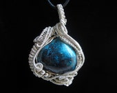 Artisan Wire Wrapped Arizona Chrysocolla in Sterling Silver