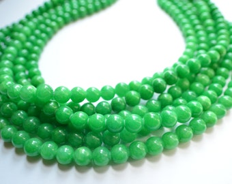 The Michelle- Kelly Green Jade Chunky Necklace