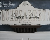 Custom VINTAGE WEDDING Sign, Shabby Chic Wedding, Family Name Sign, ESTABLISHED Sign, 36 x 16, Shabby Chic Name Sign, Est. Sign, Rustic Sign
