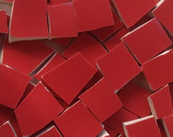 Red Broken China Mosaic Tiles Broken China Tile