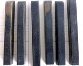 6 Black Piano Keys for mixed media art and jewelry recycled found object *Free Shipping*