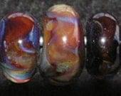 Fudge 7 boro lampwork beads- sra K45