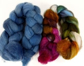 SALE- Abigail Ply Combo- 4 oz spinning fiber combo combed top roving