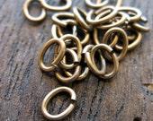 6mm x 4mm 20 gauge Antiqued Brass Jump Rings