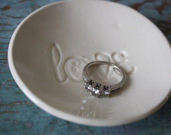Ring Dish Ring Dish Engagement Ring Dish Wedding Ring Dish Holder Love Ceramic Ring Dish