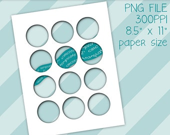 2 Inch Circles Templates, Photoshop PNG Template, Collage Sheet Templates, Two Inch Circles, Templates, Instant Download, Circle Templates