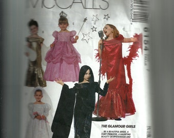 McCall's Children's Glamour Costumes Pattern 6154