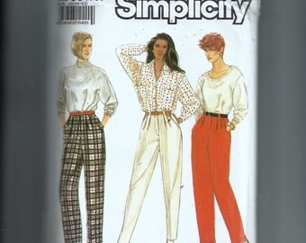 Simplicity Misses' Pants With Leg Width Variations Pattern 9785