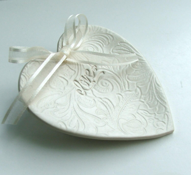 wedding ring dish ring bearer pillow porcelain wedding ring