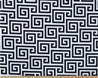 GREEK KEY Black and White Modern French Message Board made Custom For You, Any Color Ribbons Buttons Available