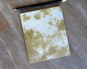 Small Sketchbook Travel Journal or Guest Book - Caramel 5x6 inches - unlined hand torn pages
