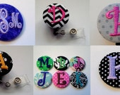 4 for 20 Monogrammed Swivel Clip Badge Reel Id Holder Your choice of personalized design