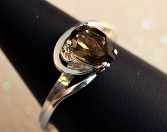 Cocoa - Smoky Topaz gemstone ring