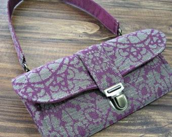 Women's Wallet, Smartphone iPhone Wallet, Clutch, Purse, Accordion, Purple Wallet - Ready to Ship