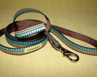 Jewelbox Leash in Blue and Pink