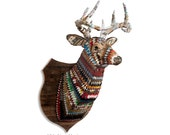 Great Plains (Deer) Faux Taxidermy Deer Head Metal Wall Sculpture