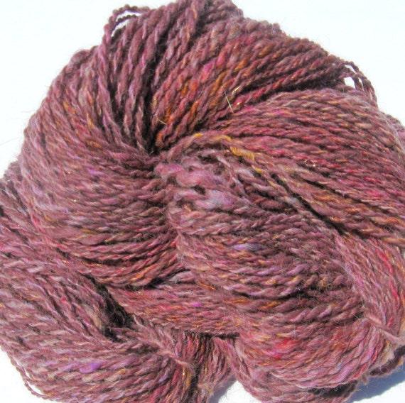 Knitting Handspun Yarn : Handspun alpaca yarn for knitting crochet weaving felting