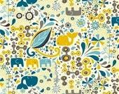 Birch Organics Frolic main boy cotton KNIT fabric you choose size CUT