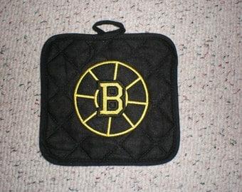 Boston Bruins Hockey Pot Holder