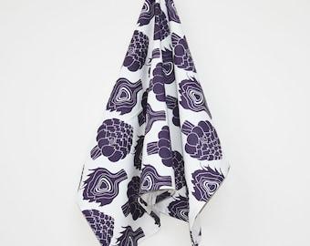 Organic Cotton Artichoke Towel - Purple