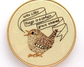 Wren Embroidery Pattern, bird pattern, PDF