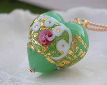 Murano Glass Wedding Cake Necklace