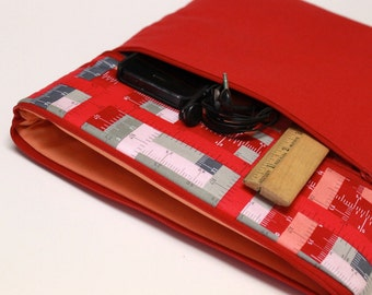 Women's iPad Pro 9.7 inch or iPad Pro 12.9 inch Case, iPad Air 2 Cover, iPad mini Sleeve iPad Case - Red Rulers