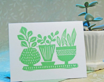 Cactus Garden Letterpress Note Cards