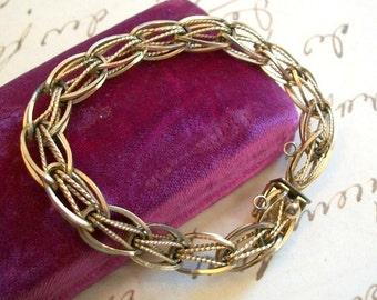 Vintage Gold Fill Double Link Charm Bracelet