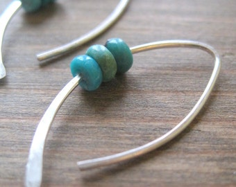 Triple Turquoise Earrings